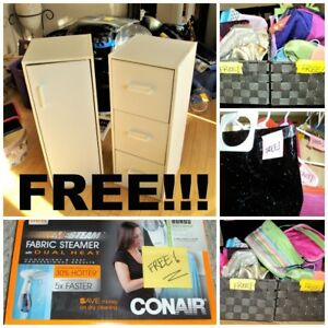 FREE STUFF at our MOVING SALE!