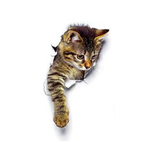 3D Katze Wandtattoo Wandsticker Karikatur Dekoration Kombination Aufkleber Tier