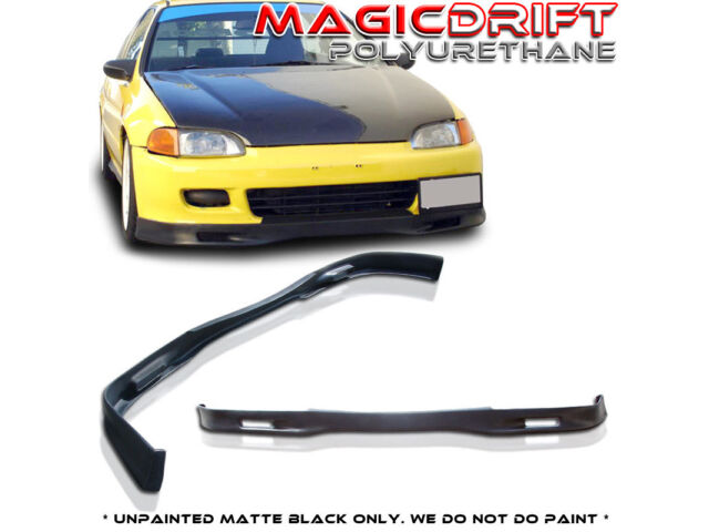 For 92-95 HONDA CIVIC EG Coupe 2Dr SPOON STYLE FRONT BUMPER LIP SPOILER URETHANE