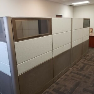 2 office cubicles