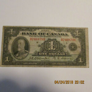 1935 One Dollar Bank of Canada Note