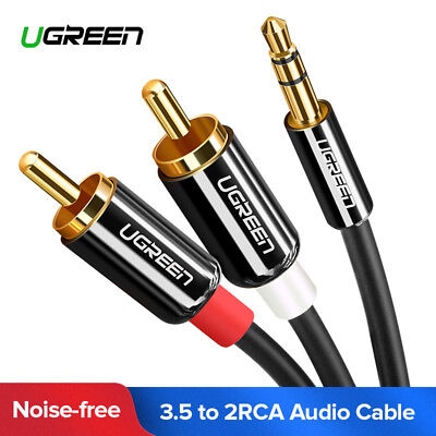 UGREEN RCA Cable 3.5mm Male to 2RCA Audio Stereo Y Splitter Cable For Tablet PC ()