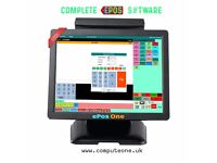 ePos System, cash register/till Takeaways, Restaurants, eCig Shop, News Agents