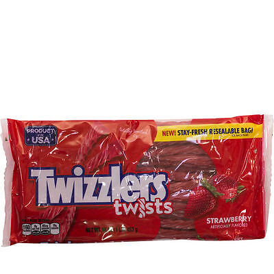 - NEW SEALED TWIZZLERS TWISTS STRAWBERRY ARTIFICIALLY FLAVORED 1LB EACH BAG