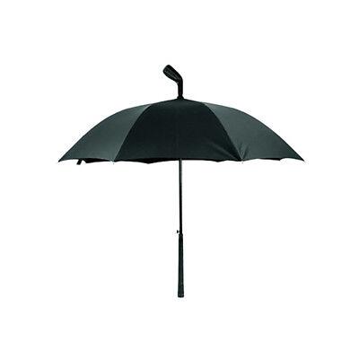 Ombrello grande Kikkerland Golf a forma di mazza da golf nero