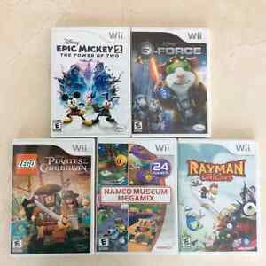 Wii Games at $15 each