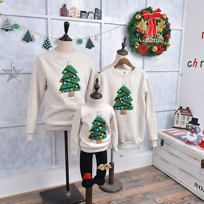 Family Matching Clothes 2019 Christmas Sweater Outfits Father Clothes Kid shirt - Family Christmas Clothes