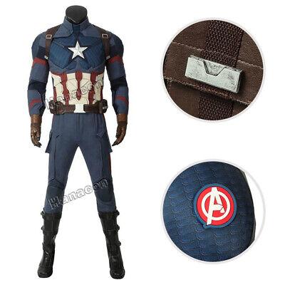 Avengers 4 Endgame Captain America Costume Steven Rogers Cosplay Men Outfit Suit - Captain America Suit Avengers