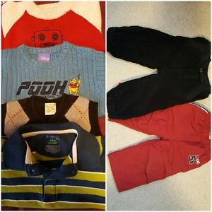 Baby Boy Clothes & Swimsuit (with life jacket) 18-24 m