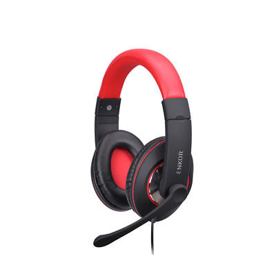 Excellent Quality New Noise Canceling Headphone with Mic,ENKOR EP100-RED/Black  for sale  Shipping to India