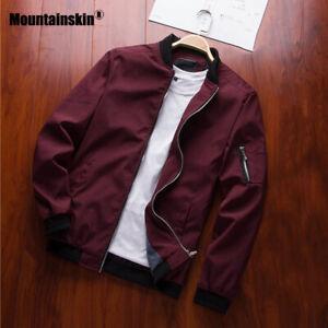 Mountainskin 2019 Mens Jackets Spring Autumn Casual Coats Bomber Jacket Slim Fas