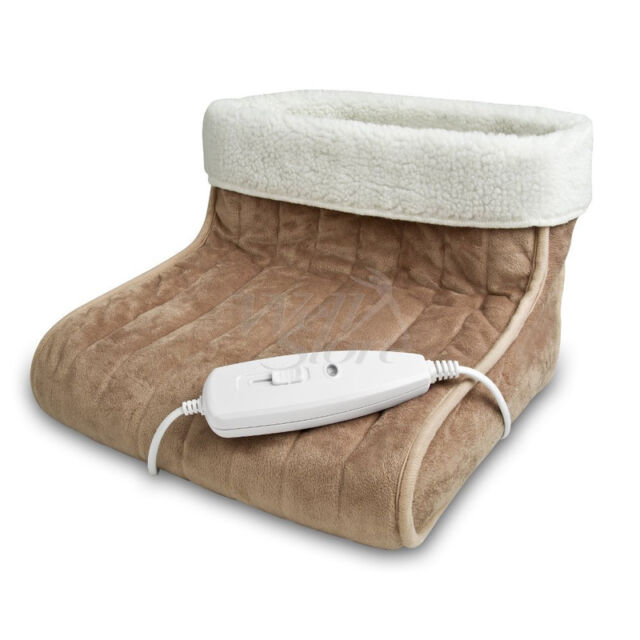 Medisana Soft Electric Heated Foot Warmer Boot Feet Warm Slippers Relaxing