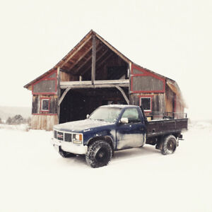 1991 Sierra 2500, 4x4, 6.2 L Diesel Flatbed (part out, takeover)