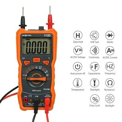 Richmeters Rm113d True-rms Digital Multimeter 6000 Counts With Analog Ncv Acdc