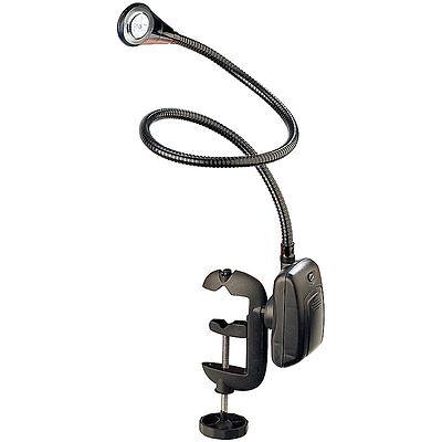Lunartec LED Grill-, BBQ- & Arbeits- Schwanenhals Lampe mit Schraubklemme