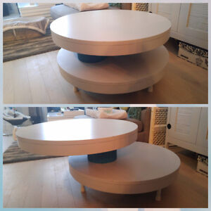 UNIQUE Round Swivel Coffee Table