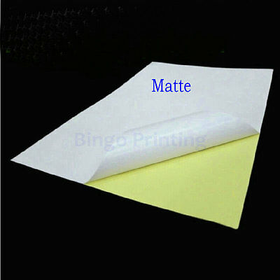 Matte Surface Inkjet Paper - Matte Surface paper Label Sticker For Inkjet Printer 50 Sheets, A4 Label Sticker