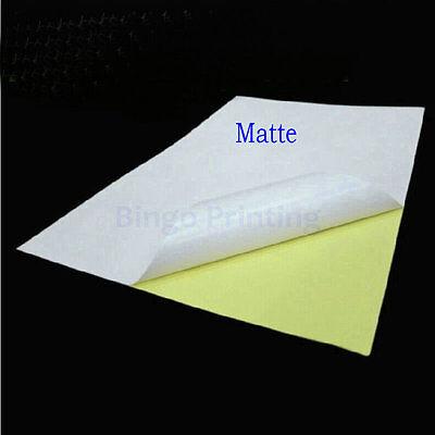 Matte Surface Paper Label Sticker For Inkjet Printer 50 Sheets A4 Label Sticker