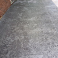 concrete pads and walkway
