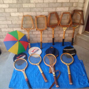 9 ANTIQUE AND VINTAGE TENNIS RACQUETS/RACKETS * See EACH PRICE