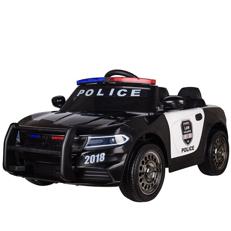 Electric Kids Cars >> Details About Kids Electric 12v Ride On Battery Police Car With Parental Remote Control