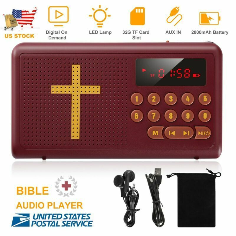 Rechargeable Electronic Bible Audio Player Talking King James Version -English
