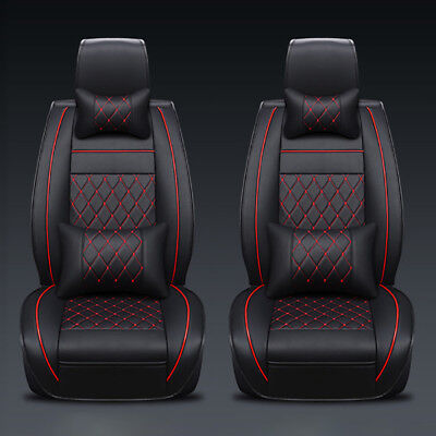 13Pcs Car Seat Covers Full Set 5-Seat Cushions PU Leather Protector Car Parts US (2007 Nissan Murano Parts)