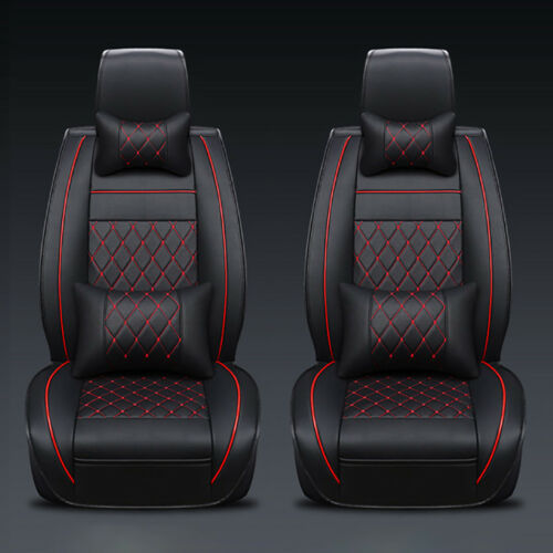 Car Parts - 13Pcs Car Seat Covers Full Set 5-Seat Cushions PU Leather Protector Car Parts US