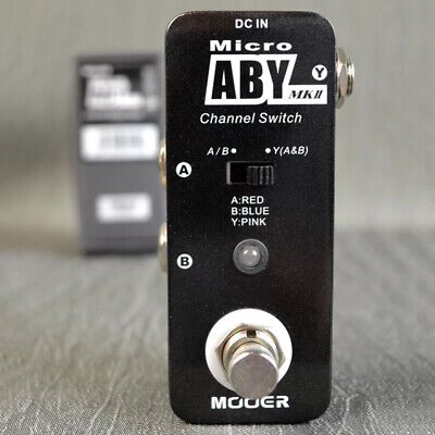 Mooer ABY MKII Guitar Effect Pedal Comprehensive Channel Switch True Bypass