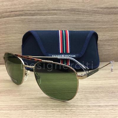 Tommy Hilfiger TH 1308/S Sunglasses Gold Havana Z66DJ Authentic 57mm
