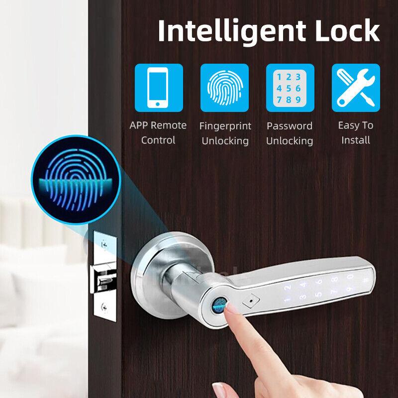 Fingerprint Lock Set Handle Lock Bluetooth Fingerprint Key APP Smart Door Locks