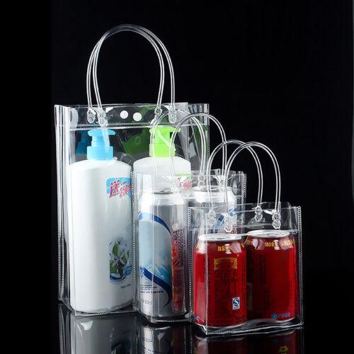 PVC Handbag Transparent Women Clear Clutch Purse Beach Shopping Tote Bag Pouch