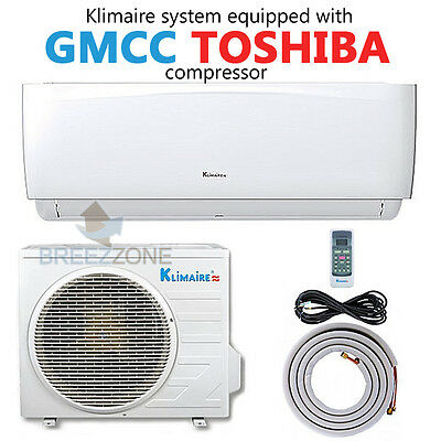 12000 BTU 16 SEER Ductless Mini Split Air Conditioner Heat Pump System 15 Ft Kit