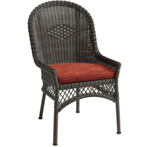 PIER 1  INDOOR/OUTDOOR WICKER DINING CHAIRS WITH CUSHIONS FOR SA