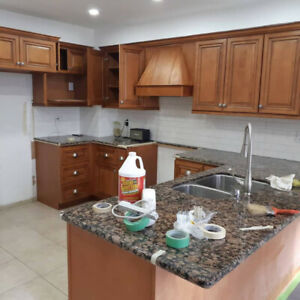 KITCHEN CABINETS FURNITURE  REFINISHING SPRAY PAINTING