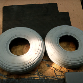 Two 300-4 mobility scooter tyres (new)