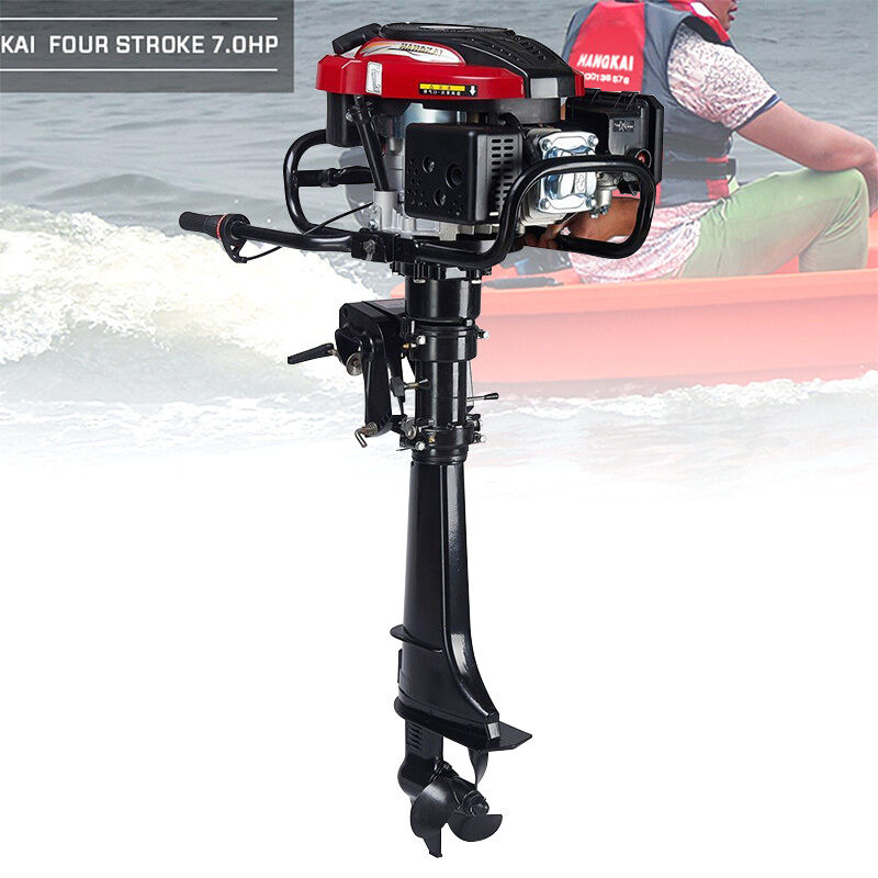 New 7 HP 4 Stroke Outboard Motor 173CC Boat Engine with Air Cooling System US