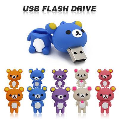 Cute bear model USB 2.0 Memory Stick Flash pen Drive 4GB 8GB 16GB 32GB GQ513
