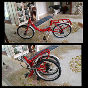 New schwinn aluminum folding bike 6 speed!