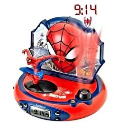 MARVEL ULTIMATE SPIDERMAN PROJECTOR ALARM CLOCK RADIO NEW by LEXIBOOK KIDS
