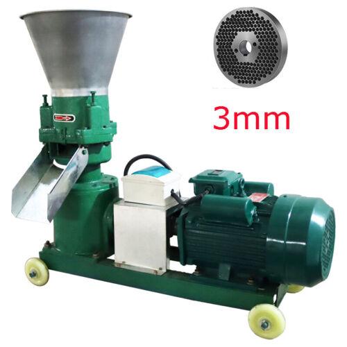 Updated Machine-220V 3MM Chicken Feed Pellet Mill Machine 150KG/h Pelletizer Hot