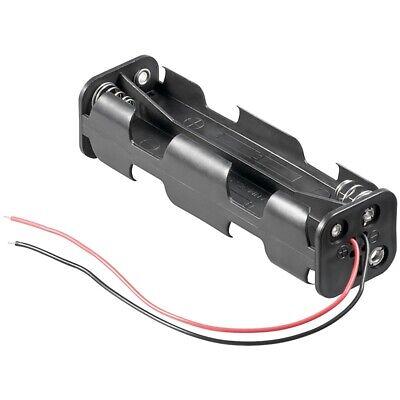 Batterie-/Akku-Halter für 8x Mignon-Zellen AA mit Kabelanschluß