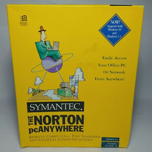 New and Sealed Symantec the Norton PC Anywhere 1995 Version 2.0