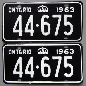 Vintage YOM License Plates - MTO Approval Guaranteed London Ontario image 7