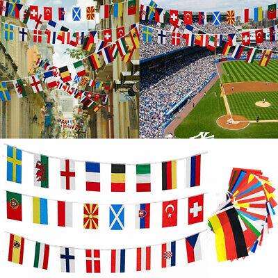 2021 EURO FOOTBALL BUNTING 24 European Flags Europe Championships 7M