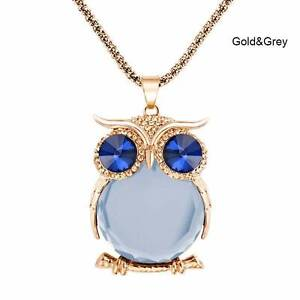 Owl necklaces - Gold & grey - New and tagged. Gateshead Lake Macquarie Area Preview