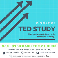 Research Study $50 - $150 CASH for 2 hours