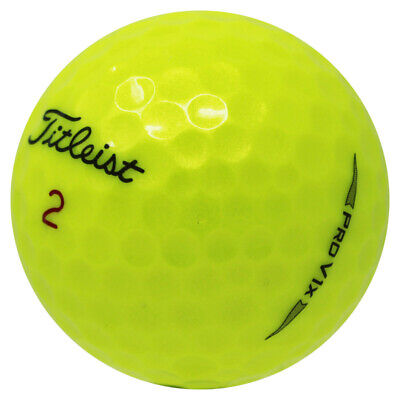 48 Titleist Pro V1x 2019 Yellow Mint Used Golf Balls AAAAA *In a Free Bucket!*