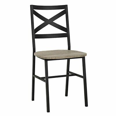 Pemberly Row X Back Dining Chair in Driftwood (Set of 2) ()