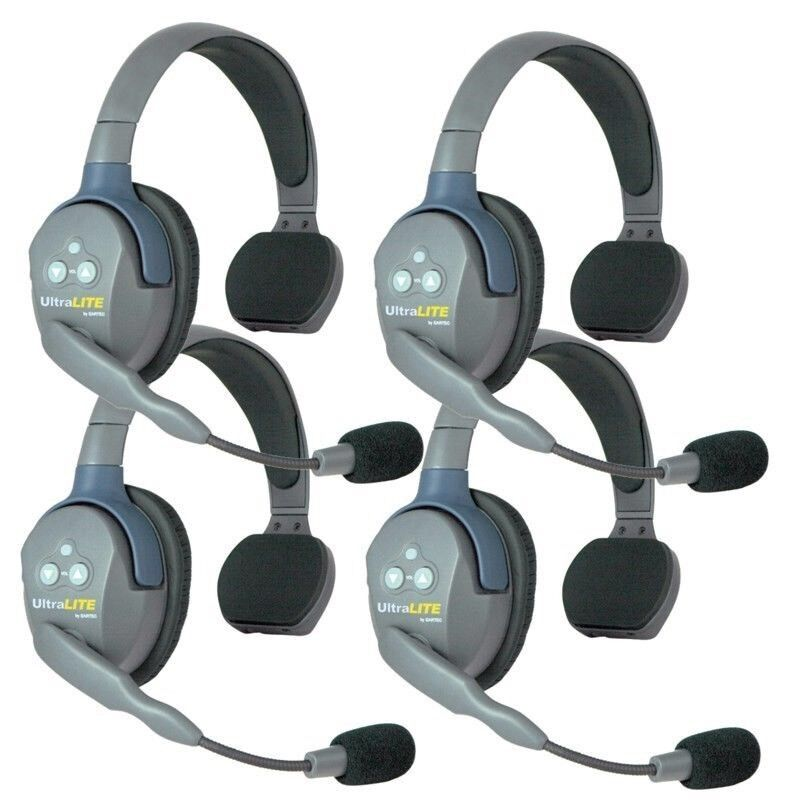 Eartec UltraLITE 4 user, Hands Free Intercom System - Single Ear Headsets